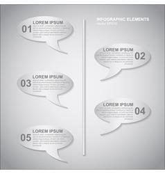 Speech bubbles infoinfographic vector
