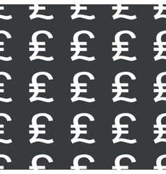 Straight black pound sterling pattern vector