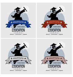 Student graduation logo design artwork vector