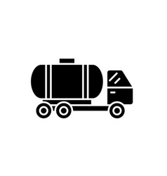tank car black icon sign on isolated vector image
