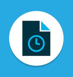 Temporary file icon colored symbol premium vector
