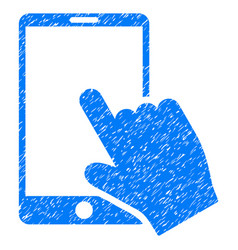 Touch smartphone grunge icon vector