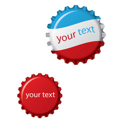 vector bottle cap vector image