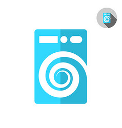 Washer machine logo vector image