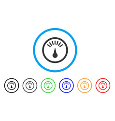 weight gauge rounded icon vector image