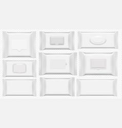 Wet wipes package antibacterial wipe plastic pack vector