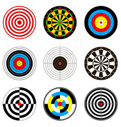 with dartboards for darts vector image