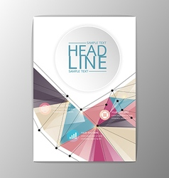A4 Abstract Brochure Background design Business vector image vector image