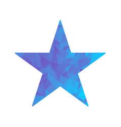 polygon blue icon star vector image