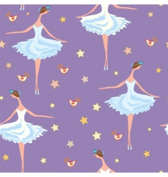 ballet seamless pattern vector image vector image