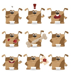 cartoon dog set vector image