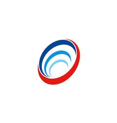 circle round abstract technology sonar logo vector image vector image