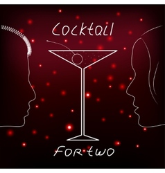 Cocktail for two vector image vector image