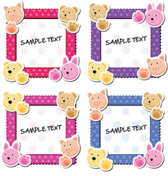 cute animal frames vector image vector image