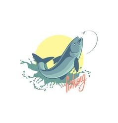 fishing asp vector image vector image
