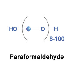 paraformaldehyde is the smallest polyoxymethylene vector image vector image