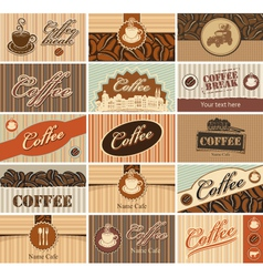 set banner of tea and coffee vector image vector image