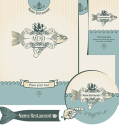 fish restaurants vector image vector image