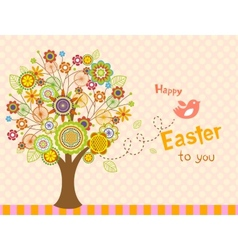Happy Easter bird - greeting card vector image vector image