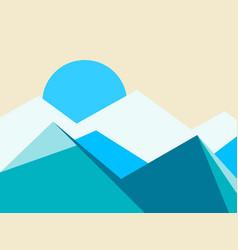 mountain peaks landscape flat style vector image