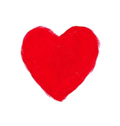 Red acrylic heart vector image vector image