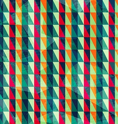 vintage triangle pattern vector image vector image