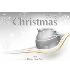 White Merry Christmas Greeting vector image vector image