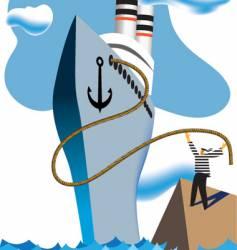 cruise ship vector image vector image