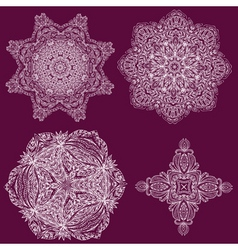 lacy arabesque vector image vector image