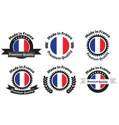 Made in Franse badges set vector image