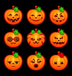 Pumpkin emoticons vector image vector image