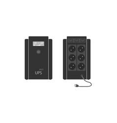 A set professional uninterruptible power supply vector