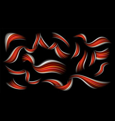 abstract brushstroke red colorful liquid vector image