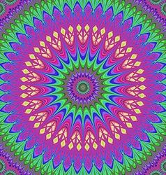 Abstract geometric oriental fractal mandala vector image