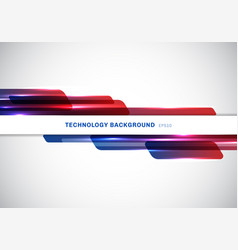 Abstract header blue and red shiny geometric vector
