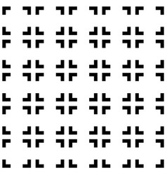 Abstract pattern with cross hair like square vector