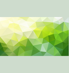 abstract polygonal background yellow green vector image