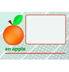 An apple vector