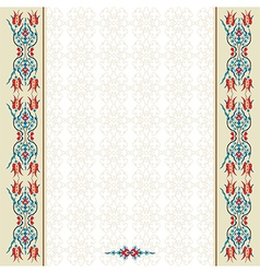 Antique ottoman turkish pattern design ninety two vector
