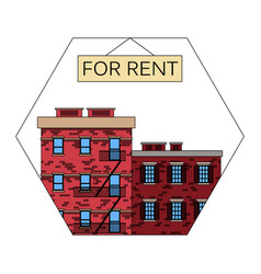 Apartments for rent old american city vector