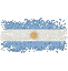 Argentinean grunge tile flag vector image