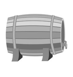Barrel of wine icon in monochrome style isolated vector image