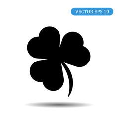 black shamrock icon eps 10 vector image