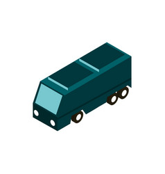 camper trip transport vehicle isometric icon vector image