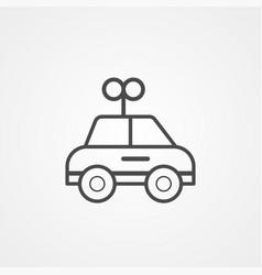 Car toy icon sign symbol vector