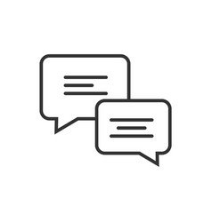 chat line icon on a white background vector image