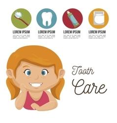 Children smile dental healthcare icon vector