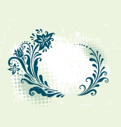 circle decorative grunge floral frame vector image