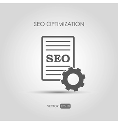 Copywriting icon SEO Optimization in linear style vector image
