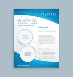 Corporate business brochure template vector